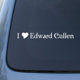 Show details of I HEART EDWARD CULLEN Twilight Vinyl Decal Sticker 1610 | Vinyl Color: White.