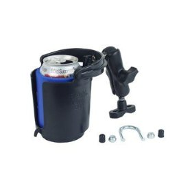 Show details of RAM CUP HOLDER W/ UBOLT BASE - RAM Mounts -.