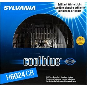 Show details of Sylvania H6024CB Cool Blue Halogen Sealed Headlight Beam.