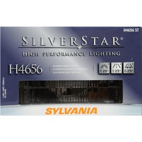 Show details of Sylvania H4656ST SilverStar High Performance Halogen Rectangular Headlight Lamp.