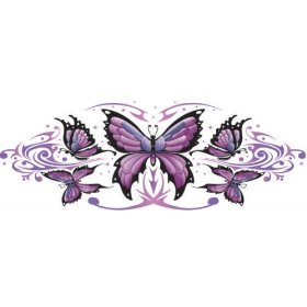 Show details of Lethal Threat Decals Purple Butterfly LT00436.