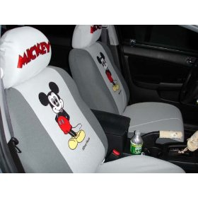 Show details of Free Upgrade Any Shipping Service to Priority Mail (Only Takes About 2-3days.) Universal Car Seat Cover - 10pcs Full Set..mickey Mouse. *Grey* ..