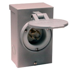 Show details of Reliance Controls PB50 50 Amp Power Inlet Box.