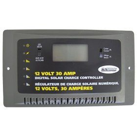 Show details of Sunforce 60032 30 Amp Digital Charge Controller.