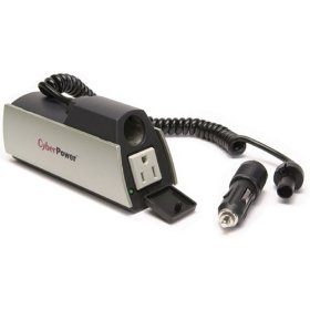 Show details of CyberPower CPS150CHI AC Mobile Power Inverter/Converter, 12VDC to 120VAC, 150W, Cup-Mount.