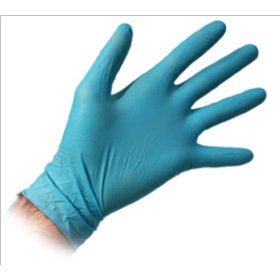 Show details of Advanced Tool Design Model ATD-6997 Medium Blue Powder-Free, Fully Textured Nitrile Gloves, 100/box.