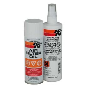 Show details of K&N 99-5000 Aerosol Recharger Filter Care Service Kit.