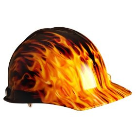 Show details of AO Safety 91277 Real Fire Vented Hard Hat.