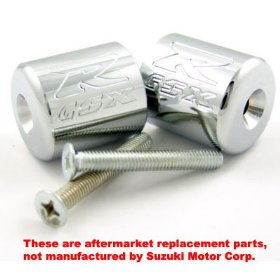Show details of SUZUKI GSXR 600 750 1000 1100 ENGRAVED CHROME BAR ENDS.