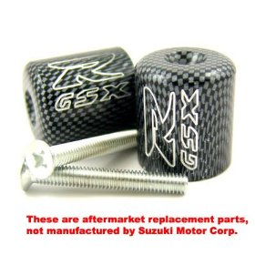 Show details of SUZUKI GSXR 600 750 1000 1100 ENGRAVED CARBON BAR ENDS.
