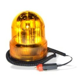 Show details of Revolving Amber Vehicle Caution Light - No-Drill Magnetic Base - 7-Ft Power Cord.