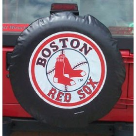 Show details of Boston Red Sox MLB Spare Tire Cover by Fremont Die (Black).