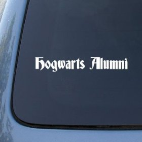 Show details of HOGWARTS ALUMNI - Vinyl Car Decal Sticker #A1607 | Vinyl Color: White.