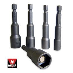 Show details of Pro-Grade 8-Piece Hex-Shank Magnetic Power Nut Setters - Metric.