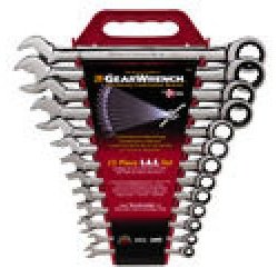 Show details of GearWrench 9312 13-Piece SAE Combination GearWrench Master Set.