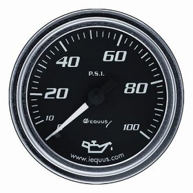 Show details of Equus 7244 Oil Pressure Gauge - Black.