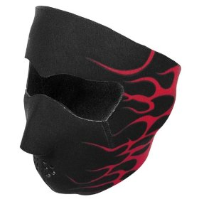 Show details of Zan Headgear FACE MASK NEOPRENE RED FLAMES WNFM229R.