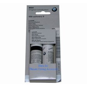 Show details of BMW Genuine Jet Black Touch-up Paint Color Code 668.