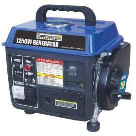 Show details of Blue Max GEN 1250 1,250-Watt 2 HP 2-Cycle Gas-Powered Generator (Non-CARB Compliant).