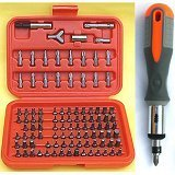 "Show details of Anytime Tools 100+1 Piece Tamper Proof/security Screwdriver Bits and 1/4"" Reversible Ratchet Screwdriver Handle."