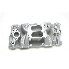 Show details of Edelbrock 2601 Performer Air-Gap Aluminum Intake Manifold.