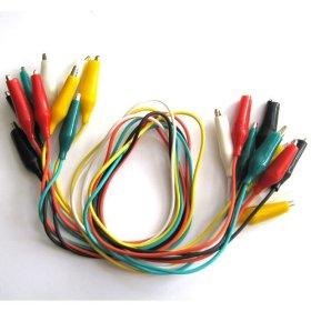 Show details of 10pc Test Lead Set w/Alligator Clips.