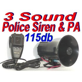 Show details of Police Tone 3 Sound Siren + Microphone 50w 115db Ton of Fun.