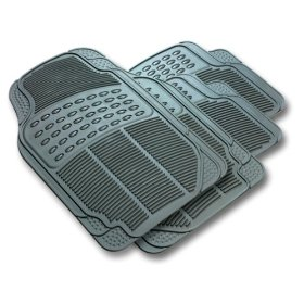 Show details of Rubber Queen 70504 4 Piece Vinyl Floor Mats - Gray.