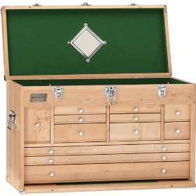 "Show details of Grizzly H7718 26"" Maple 12 Drawer Chest."