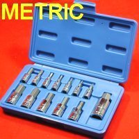Show details of 13 pc METRIC MM HEX ALLEN WRENCH BIT SOCKET TOOL SET.