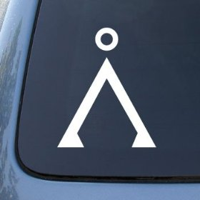 Show details of STARGATE EARTH - Vinyl Decal Sticker #A1374 | Vinyl Color: White.