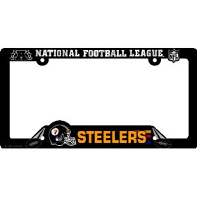 Show details of Pittsburgh Steelers License Plate Frame Two Pack Set.