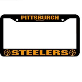 Show details of Pittsburgh Steelers NFL Chrome License Plate Frame.