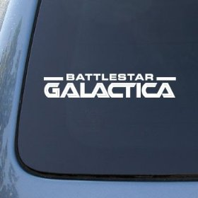 Show details of BATTLESTAR GALACTICA LOGO - Vinyl Decal Sticker #A1425 | Vinyl Color: White.