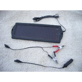 Show details of Amorphorous 6/12 Volt Solar Panel Battery Maintainer- Model 1.