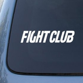 Show details of FIGHT CLUB - Fighting Boxing - Vinyl Car Decal Sticker #1664 | Vinyl Color: White.