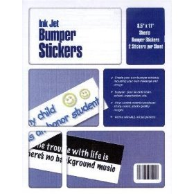 Show details of 50 Blank Vinyl Bumper Stickers: Make Your Own in Any Inkjet Printer.