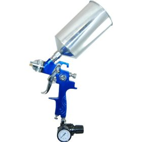 Show details of Professional HVLP Spray Gun with 1.8mm Fluid Tip and Regulator.