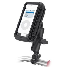 Show details of Motorcycle / Bike WEATHERPROOF Handlebar Mount for Apple iPod PDAs Dell DJ & Many MP3 Players.