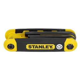 Show details of Stanley 90-394 8 Piece Metric Folding Hex Key Set.