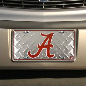 Show details of Alabama Crimson Tide Diamond Metal License Plate.