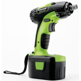 Show details of Kawasaki 840062 Green 14.4-Volt Cordless 1/2-Inch Impact Wrench.
