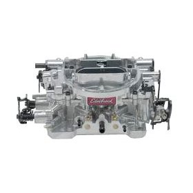 Show details of Edelbrock 1826 Thunder Series 650 CFM Square Bore 4-Barrel Electric Choke New Carburetor.