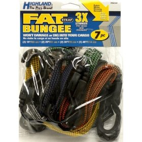 Show details of Highland 9414700 Fat Strap Bungee Cord - 7 Piece.