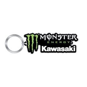 Show details of Monster Energy Kawasaki Rubber Keychain.