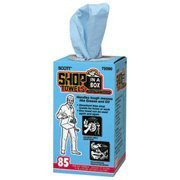 Show details of Kimberly-Clark 75090 Scott Shop Towels 85 Per Box.