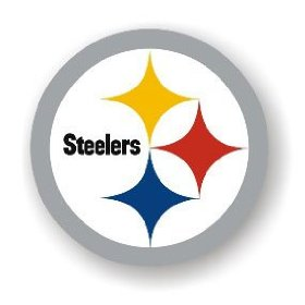 "Show details of Pittsburgh Steelers - 12"" NFL Magnets."