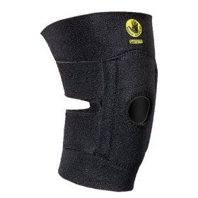 Show details of Body Glove 90131 Open Patella Breathable Neoprene Knee Support with Foam Pad, No Stays, Black, Unisize.