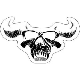 Show details of Danzig - Classic White Skull Logo on Clear Background - Sticker / Decal.