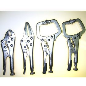 Show details of 4pc VICE GRIP TYPE Mini Locking Pliers Set HIGH-CARBON STEEL.